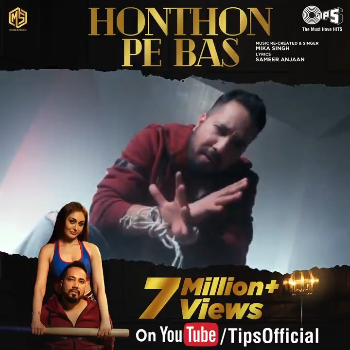 #HonthonPeBas by @MikaSingh is winning hearts all over as the track crosses 7 MILLION+ VIEWS!!  Watch the full video here:   Starring: Mika Singh & @shefalijariwala Music: #MikaSingh, Dilip Sen & Sameer Sen Lyrics: @SameerAnjaan #ShefaliJariwala