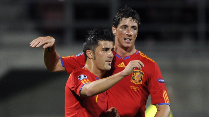 Happy 39th birthday to Spain\s all-time leading scorer: David Villa - 59 Raul - 44 Fernando Torres - 38