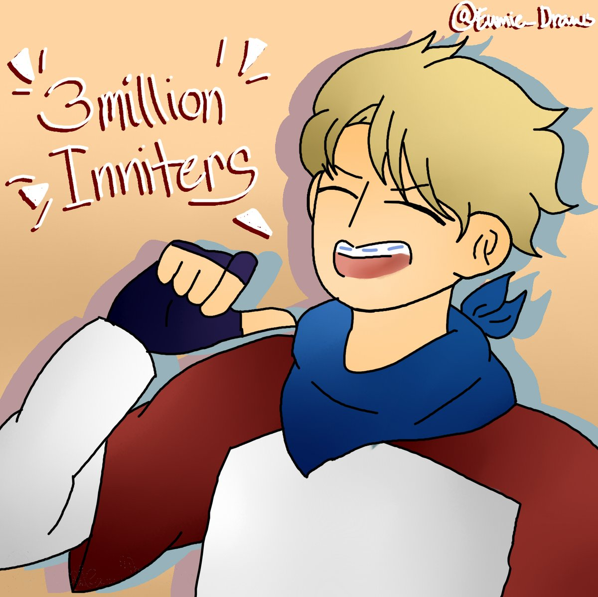 LET'S GO MY DUDE! CONGRATS ON 3 MIL @tommyinnit !  Here's for more milestones!  [dont qt rt just rt and untag ccs when replying]  #tommy3mil #tommyinnitfanart #3MillionInniters #tommyinnit3mil #mcyt #mcytfanart #tommyfanart #mcyttwt