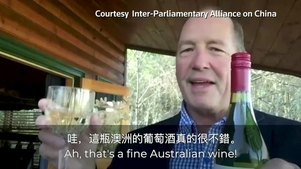 Legislators from a global cross-party alliance posted a video urging people to buy Australian wine in response to Chinese trade sanctions on wine imported from the country https://t.co/mbABzhWQFv https://t.co/ECUIOXT4Xn