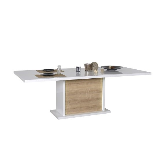 Metz Extendable Dining Table In White Gloss Oak With Lighting at Unique Furnishing - Metz Extendable Dining Table Rectangular In White High Gloss And Oak With Lighting, perfect for your dining room. Crafted ... https://t.co/cnnqQSCot4 #Tables #interiordesign #LIKE #RETWEET https://t.co/2qbNOzkZpx