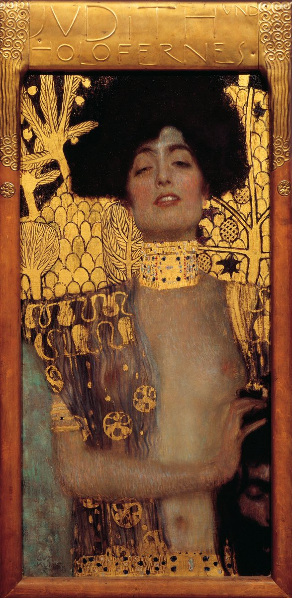 """""""Judith and the Head of Holofernes 1901, Belvedere"""" Gustav Klimt (July 14, 1862 – February 6, 1918) was an Austrian symbolist painter and one of the most prominent members of the Vienna Secession movement."""