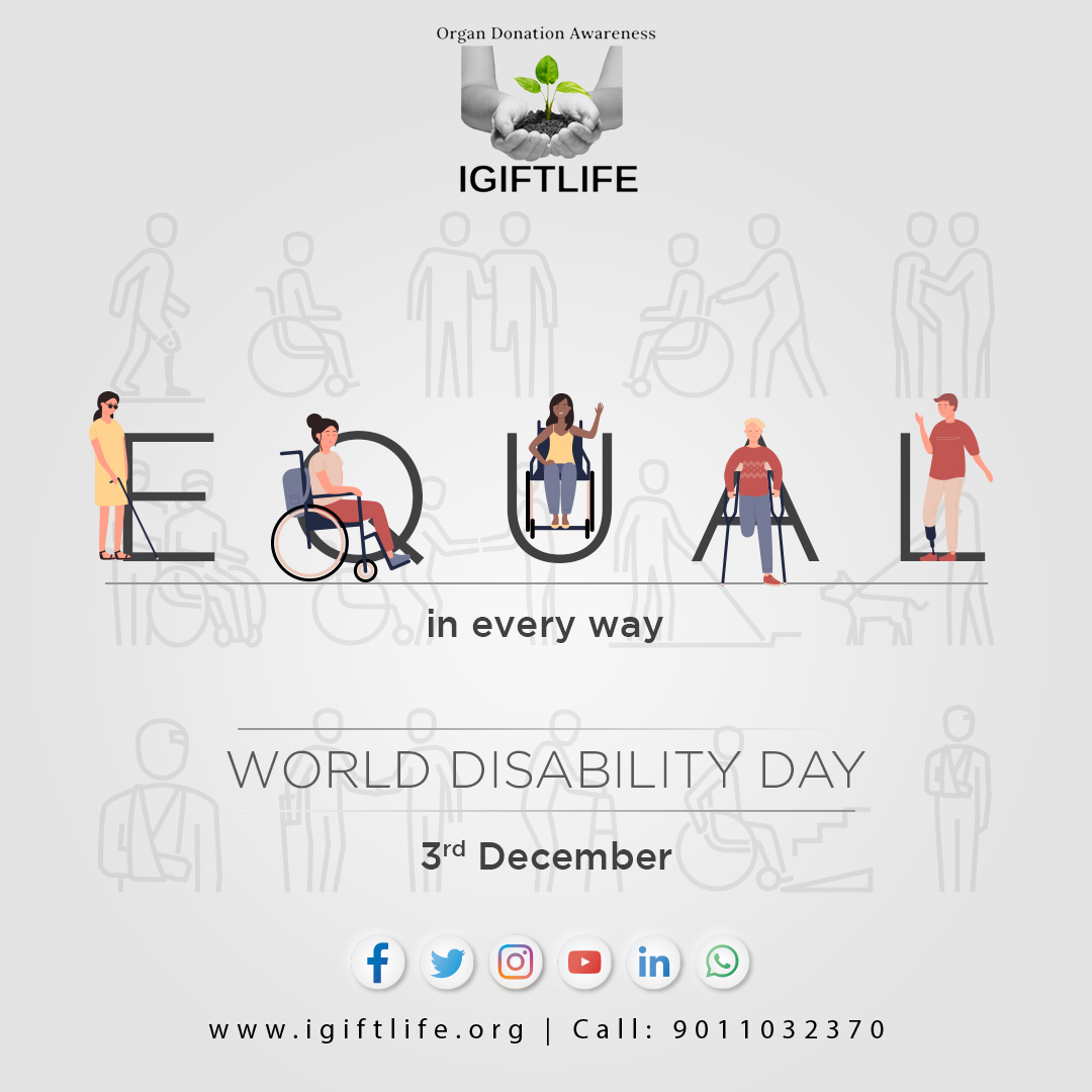 Just because someone lacks the use of their #eyes doesn't mean they lack #vision, someone who #limps still reaches their destination, someone with no #voice still has #words. We all lack something, let's build on the attitude of being Equal in Every Way.  #World #Disability #Day https://t.co/Dlcts8ALOU