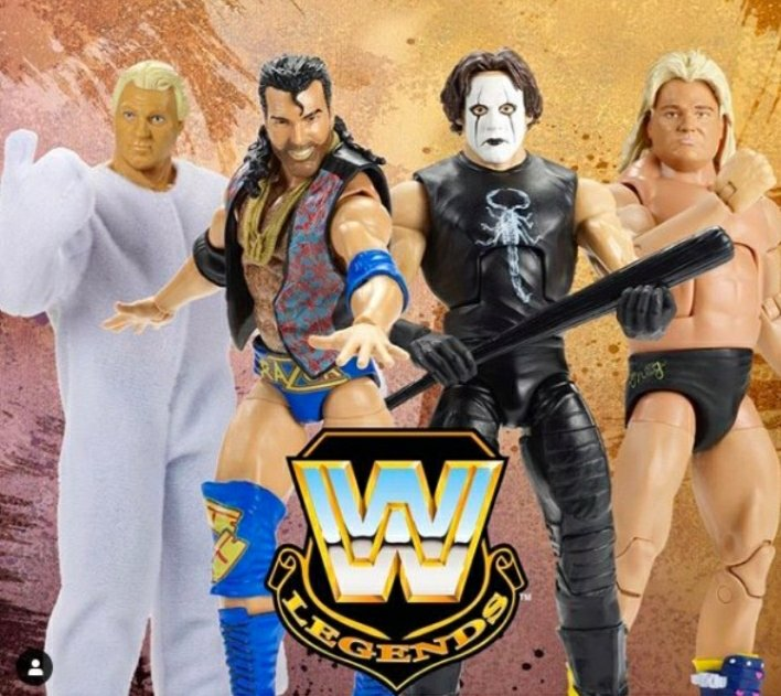 He's back !!! > Everyone wondering WHY The Crow #STING WWE Elite Legends MATTEL action figure was shelved.. LOOK NO FURTHER!  Now we can have an #AEWDynamite Action figure of Sting Nobody can find (SMH).  @MajorWFPod @MyDamnToys @AEWonTNT
