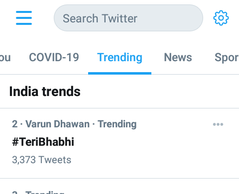 #TeriBhabhi song number 2 trending 😍🎉 thodi der me no. 1 hone wala hai supar hit song super hit song 🎉🎉🎉🎉 @Varun_dvn #SaraAliKhan #CoolieNo1 #CoolieNo1OnPrime #excitedforcoolieno1 Coolie No 1