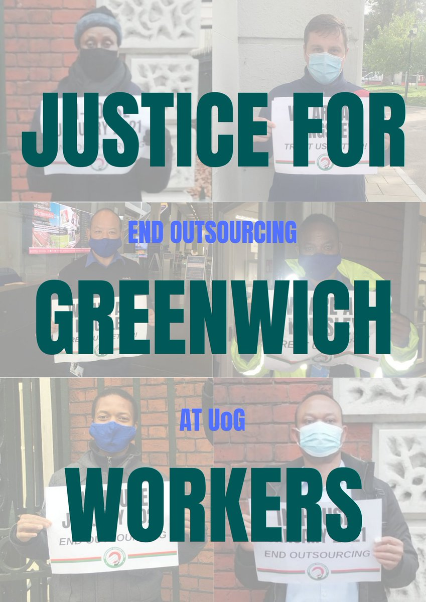 🚨🚨BREAKING: Outsourced workers at @UniofGreenwich will vote on strike action on pay, conditions & discrimination as part of our campaign to END OUTSOURCING. The IWGB served 🗳️ notice of ballot 🗳️ on Greenwichs subcontractor Sodexo yesterday 🔥🔥🔥