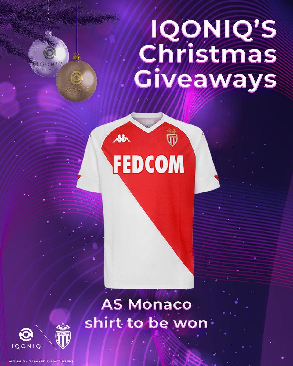 Day 3️⃣ of IQONIQ's Christmas Giveaways! 💜⠀ ⠀ Win a @AS_Monaco shirt!  ⠀ Simply:⠀ Follow @IQONIQ RT this tweet 🔁 ⠀ T&Cs 👉