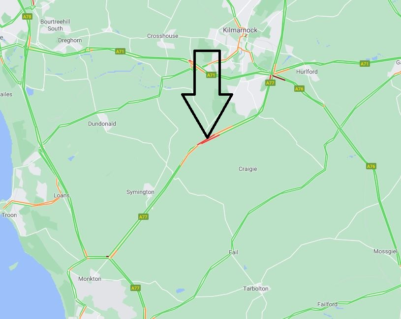 test Twitter Media - NEW❗️⌚️08:50  #A77 northbound Kilmarnock Bypass  RTC in lane 2 of 2 between Symington and Hurlford  Please #TakeCare   🚔 en route  @SWTrunkRoads https://t.co/m7GAw3YsNX