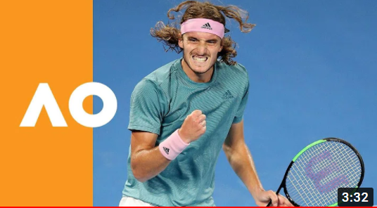 """Tb Relive the watershed moment - Australian Open 2019 """"Happiness, pure happiness. Emotional moment. The beginning of something really big."""" 💙💙 https://t.co/wc29Pk9XCk #tsitsipas #federer https://t.co/U9vZX7S3jN"""