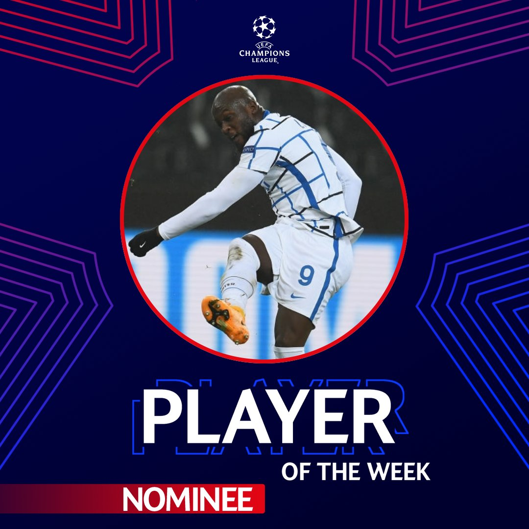 🗳️ | VOTES  @RomeluLukaku9 has been nominated for @ChampionsLeague Player of the Week! 🔝  You have until Friday at 12:00 CET to cast your vote 👉