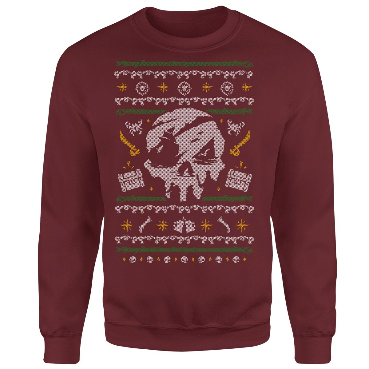 In case you need to share your passion for pirates in a suitable style for the season, our official merch outpost now stocks a Sea of Thieves-inspired Christmas sweatshirt and a range of festive greetings cards!  🎄