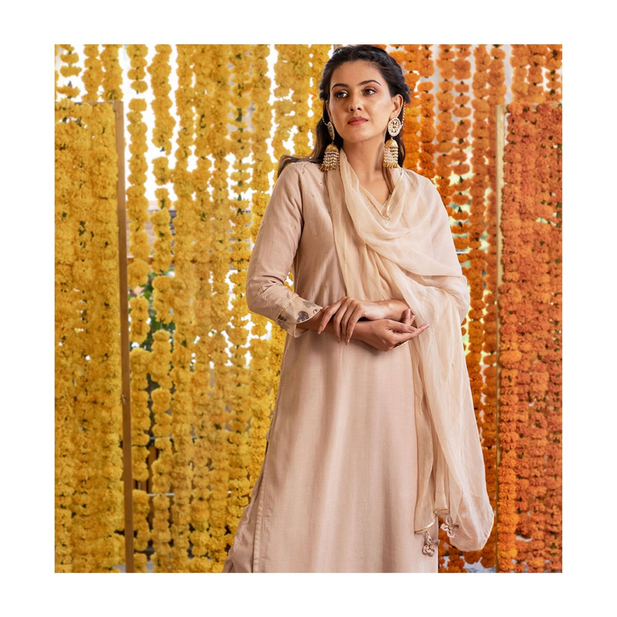 The collection portrays simplicity and versatility while keeping the core of the conversation to weaving.    #jovifashion #afgani #beige #festivevibes #fashiontrends #festiveoutfit #festivecollection #style #ethnic #outfitoftheday #inspirations #embroidery