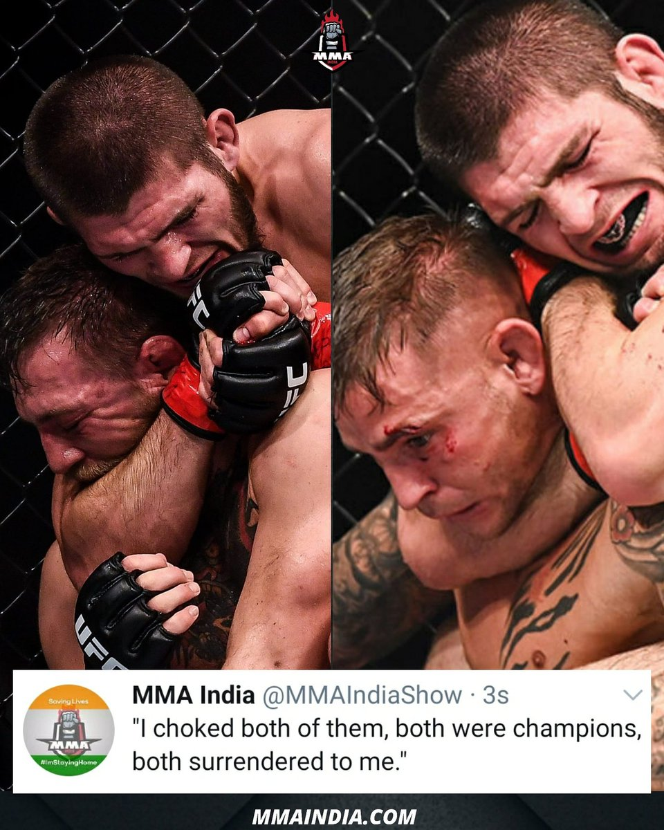 """NEWS: 🚨 Khabib """"the Eagle"""" Nurmagomedov has no interest in returning for Conor McGregor or Dustin Poirier: 'I choked both, why should I do this?' 🦅   He also says #DustinPoirier is the 🔝 fighter in the LW Division ( via Khabib 🎙 🇷🇺 )  Do you agree with him?   #UFC #MMA https://t.co/iDjyOQbJWC"""