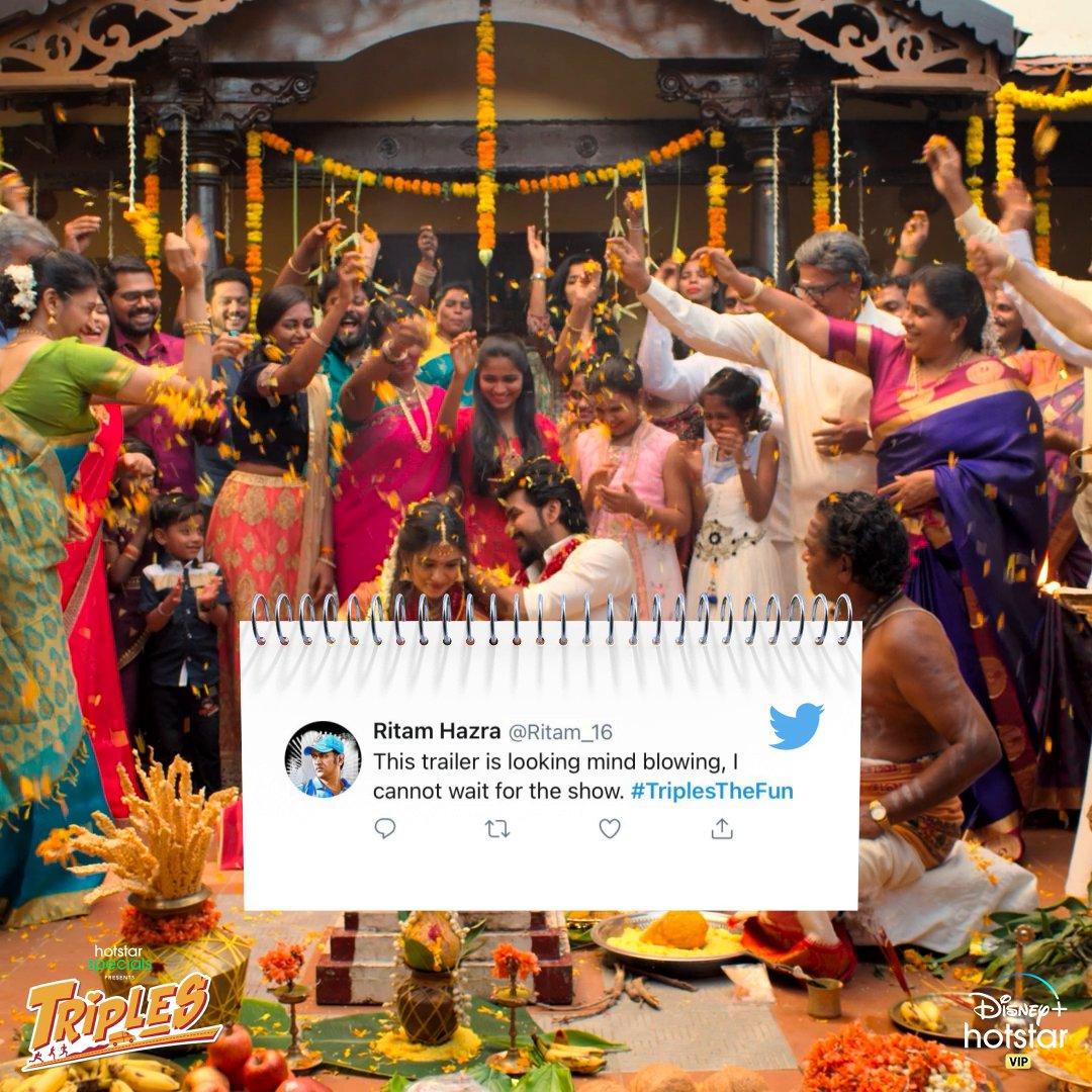 Non-stop love for the Triples trailer! We promise you're going to have #TriplesTheFun on December 11! . . @karthiksubbaraj @Actor_Jai @vanibhojanoffl @actorvivekpra @rajNKPK @namikay1  @CharukeshSekar @kalyanshankar @composer_vishal @balajitweets4u @editor_prasanna   #Triples