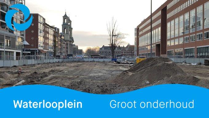 Nee, dit is geen stadsstrand of gigantische zandbak, dit is het #Waterlooplein! 🙈   Het 💧 drinkwater- en 💩 rioleringsstelsel zijn toe aan vervanging. Rob legt uit hoe wij dit aanpakken!    https://t.co/t8pdJPfvFc