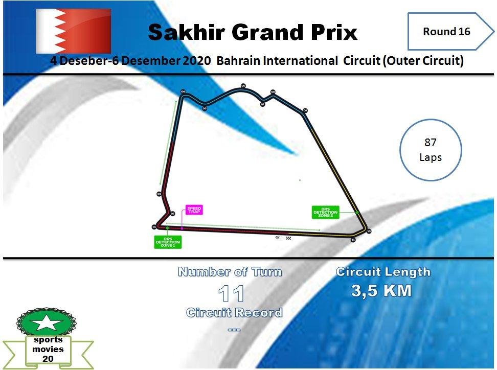 Jadwal F1 Sakhir Grand Prix.   4/12/2020 Free Practice 1: 20.30-22.00 WIB    5/11/2020  Free Practice 2: 00.30-02.00 WIB Free Practice 3: 21.00-22.00 WIB  6/12/2020  Qualification: 00.10 WIB   7/12/2020 Race: 00.10 WIB  #SakhirGP  #F1 https://t.co/qUsuj55ucc