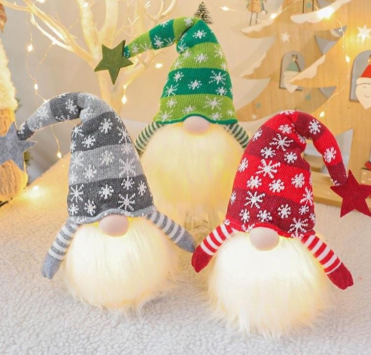These cute glowing gnomes are now on SALE! 😍❤❤Now only £14.99. Get yours today!   #GNOME #gonks #Sales #Christmas2020 #ChristmasIsComing #christmas #festiveseason #festivevibes