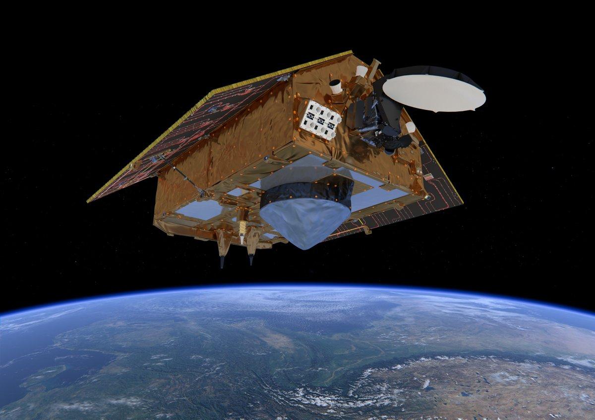 Satélite de vigilancia oceánica 🛰 @CopernicusEU #Sentinel6 supervisará el aumento del nivel del mar a nivel mundial 🌊📈   ¡Conoce al miembro nuevo miembro de la familia de satélites de vigilancia!   #EUSpace  ➡  📸@ESA_EO/@SpaceX