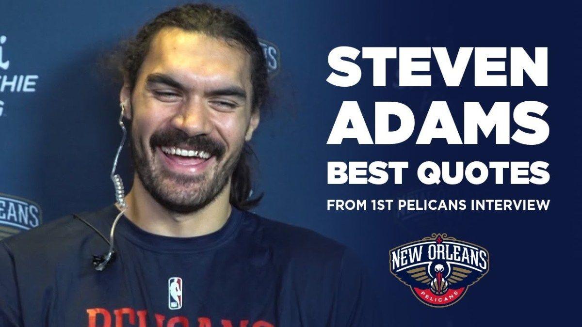 Steven Adams' Best Quotes from 1st Pelicans Interview https://t.co/ZIHy4b457R   #beardsofinstagram #instabeards #beard #font #team #jaw #tshirt #beardgang #teamwork #facialhair #player #bearded #dude #guyswithbeards #aestheticallypleasing #typedesign #letterfolk https://t.co/tjjDjpNh5K