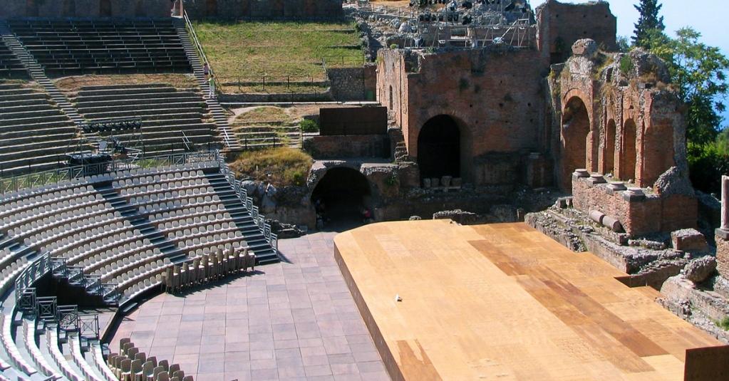 #blogsicilia Teatro di Taormina, oggi location d'eccezione per concerti, spettacoli ed eventi.