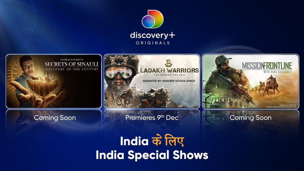 Presenting Discovery+ Originals - India के लिए India Special Shows. 3 extraordinary exclusives from your favorite real-life #infotainment app #DiscoveryPlus  @RanaDaggubati @RandeepHooda @BajpayeeManoj @neerajpofficial  #IndiaKeLiye #DiscoveryPlusOriginals