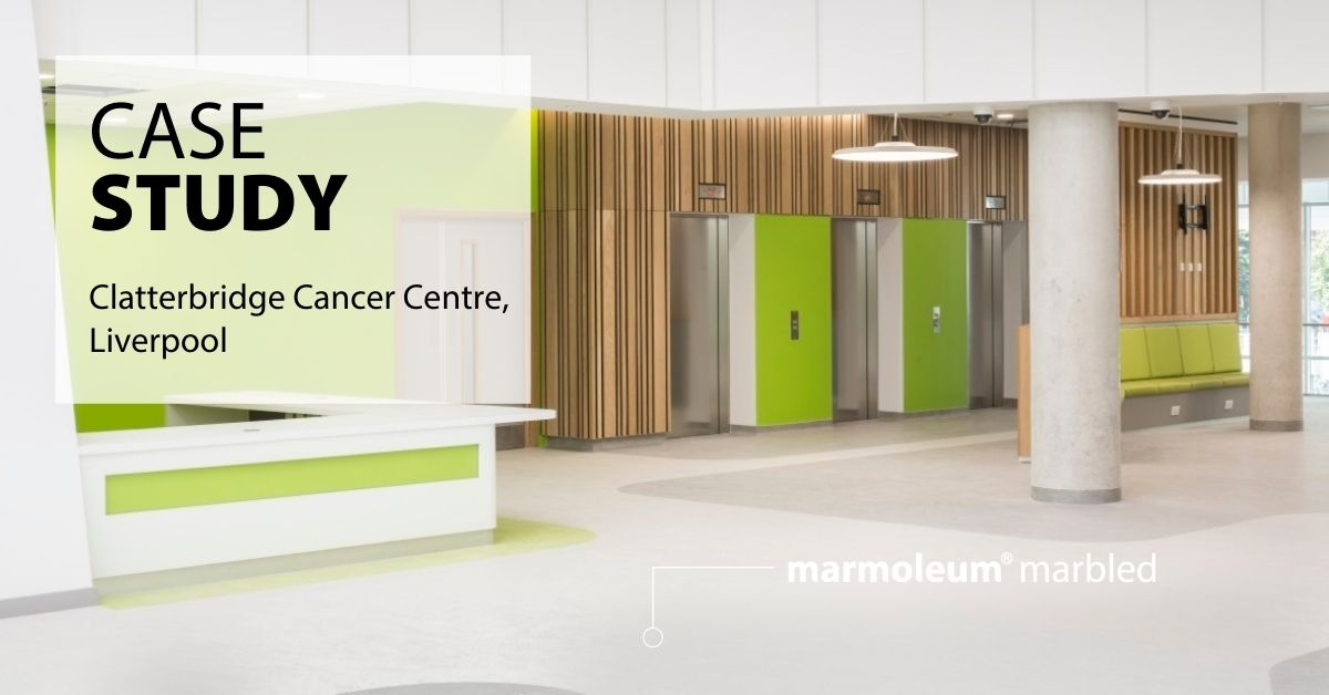 Naturally bacteriostatic, Marmoleum was installed throughout @CCCNHS, in general circulation areas, patient spaces and bedrooms and receptions. Colorex EC and SD were also specified for the specialist equipment areas to control static discharge. https://t.co/SVxWmZ0VJD https://t.co/BLxByiw9UM