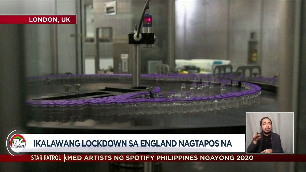 #TVPatrolLive Nagtapos na ang ikalawang lockdown sa England. | ulat ni Rose Eclarinal https://t.co/wd8dZUZsmH