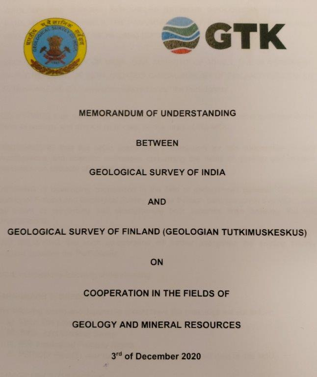 #GTK and Geological Survey of India #GSI have today agreed to create closer co-operation. #GTK #strategy is to create solutions for more #sustainable #Growth and there is many projects we could do together. #research #tutkimus #criticalminerals #circulareconomy #water https://t.co/BP7nrvP1dr