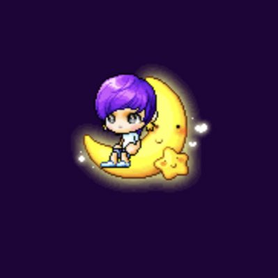 okay it's not the best but i've been trying to make this for over an hour and i think it turned out cute!! #NewProfilePic #MaplestoryForJin @BTS_twt