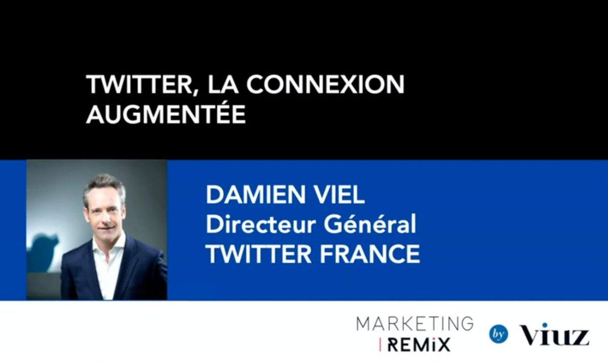 C'est parti pour le #MarketingRemix de @viuzfr !  Comment le digital permet aux entreprises de se (re)connecter avec ses consommateurs ? Réponse avec  @damienviel, directeur général de @TwitterFrance  #MarketingRemix #socialmedia #marketing #THREAD