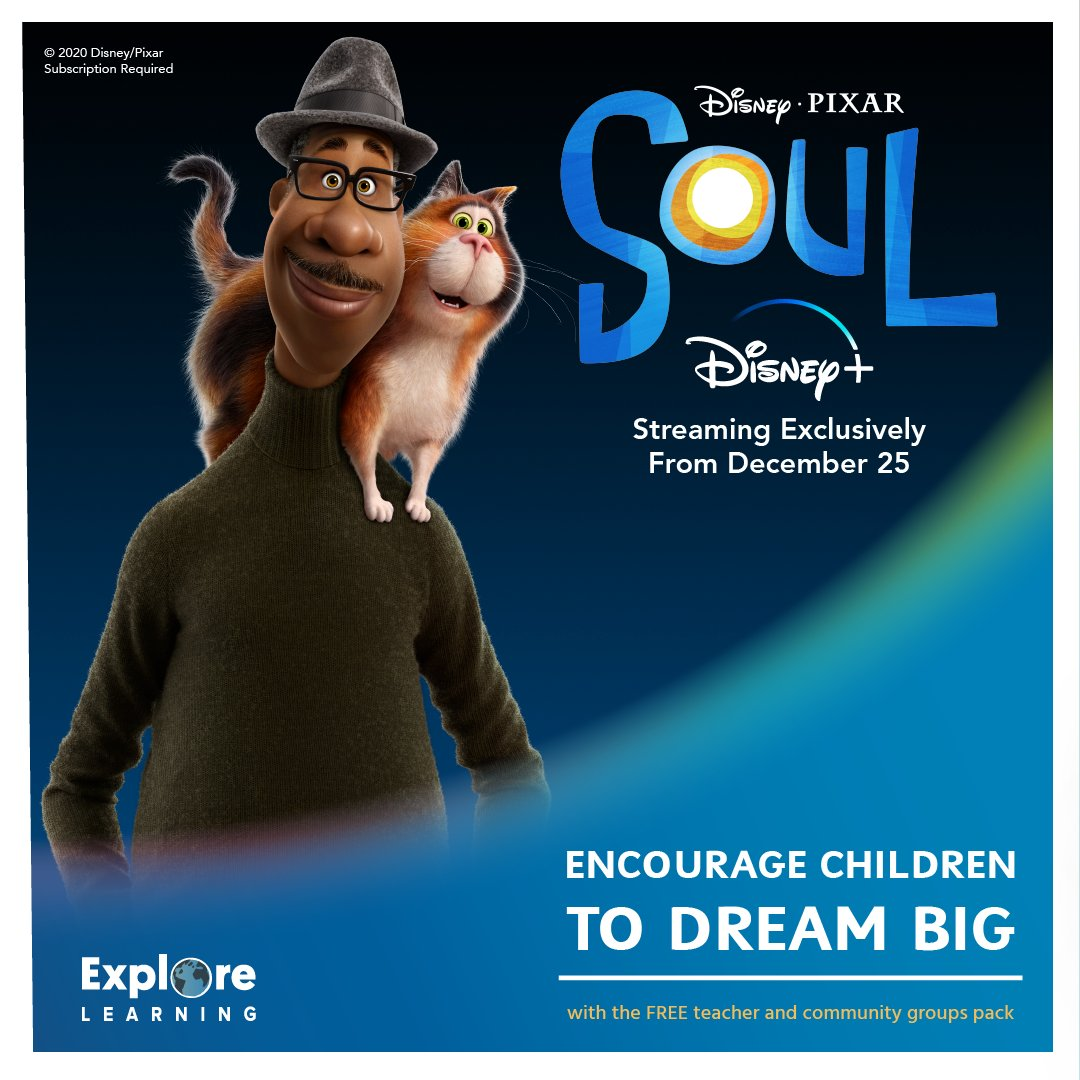 Free resources for your school or community group! Encourage children to dream big with our free lesson plan and downloadable activities in celebration of the release of Disney and Pixar's 'Soul', available to stream from December 25 only on #DisneyPlus. #PixarSoul @DisneyPlusUK