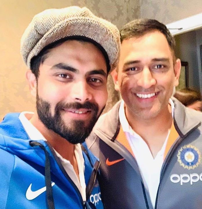 .@msdhoni has played for such a long time, he tries to build a partnership with whichever batsman he is playing. Once he gets set, he looks to play the big shots. He tells me that if we take match to the end, then a lot of runs can come in the last 4-5 overs. - Ravindra Jadeja ❤️