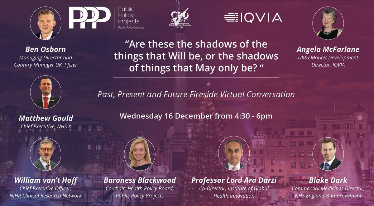 test Twitter Media - 16th December: Join @Policy_Projects & @IQVIA_UK for a Fireside Virtual Conversation on UK life sciences with Chair  @angelam84211591, @blakeydark, @nicolablackwood,  @matthewsgould, @runnerosborn, Professor Lord Ara Darzi & Dr William van't Hoff Register: https://t.co/5GJhpC1qgg https://t.co/StSvYweVTs