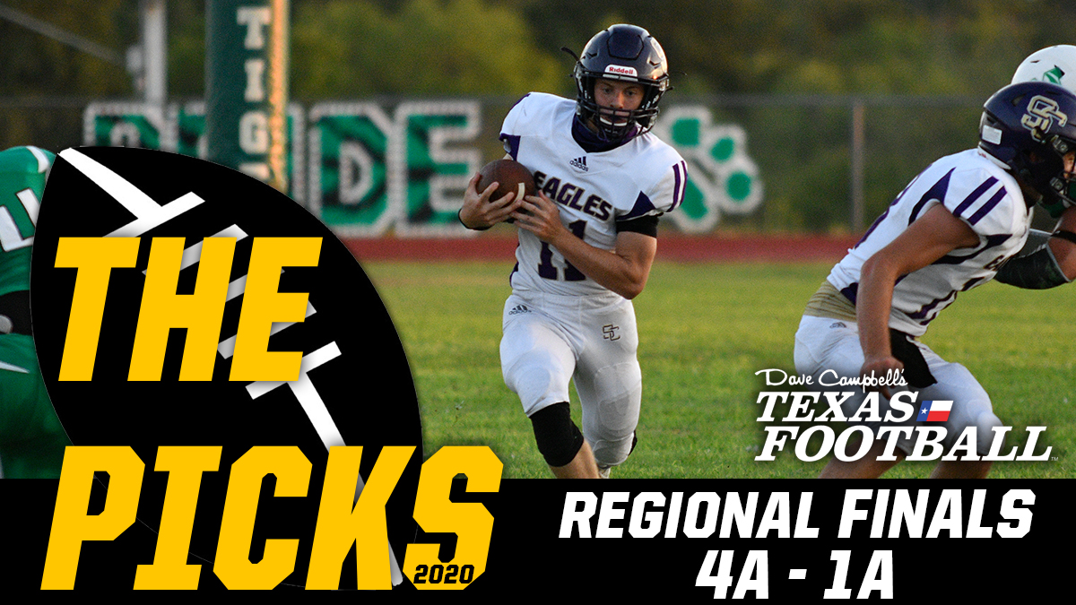 The Picks: 2020 #TXHSFB 4A-1A Regional Finals  https://t.co/1QVsvsfjYp 🎙️ @Tepper | #txhsfbplayoffs https://t.co/xfZWHojlRi