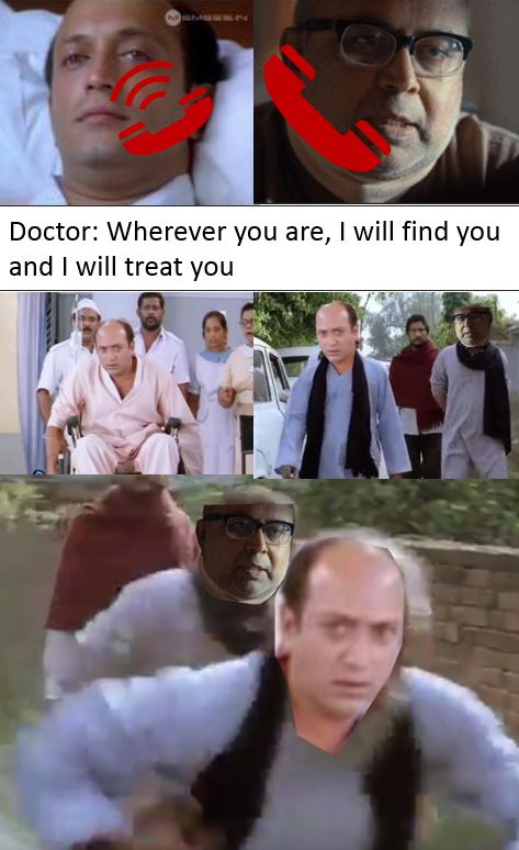 When Vasool Raja's Patient get call from #Andhaghaaram Doctor 😅 @vvignarajan @iam_arjundas   @vinoth_kishan @Poojaram22 @Atlee_dir