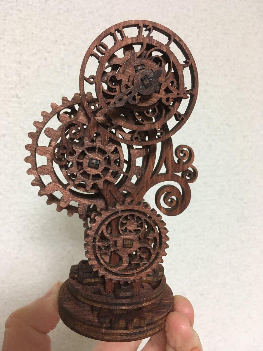 UGEARペイント完了。渋い雰囲気になった。 #steampunk #gears
