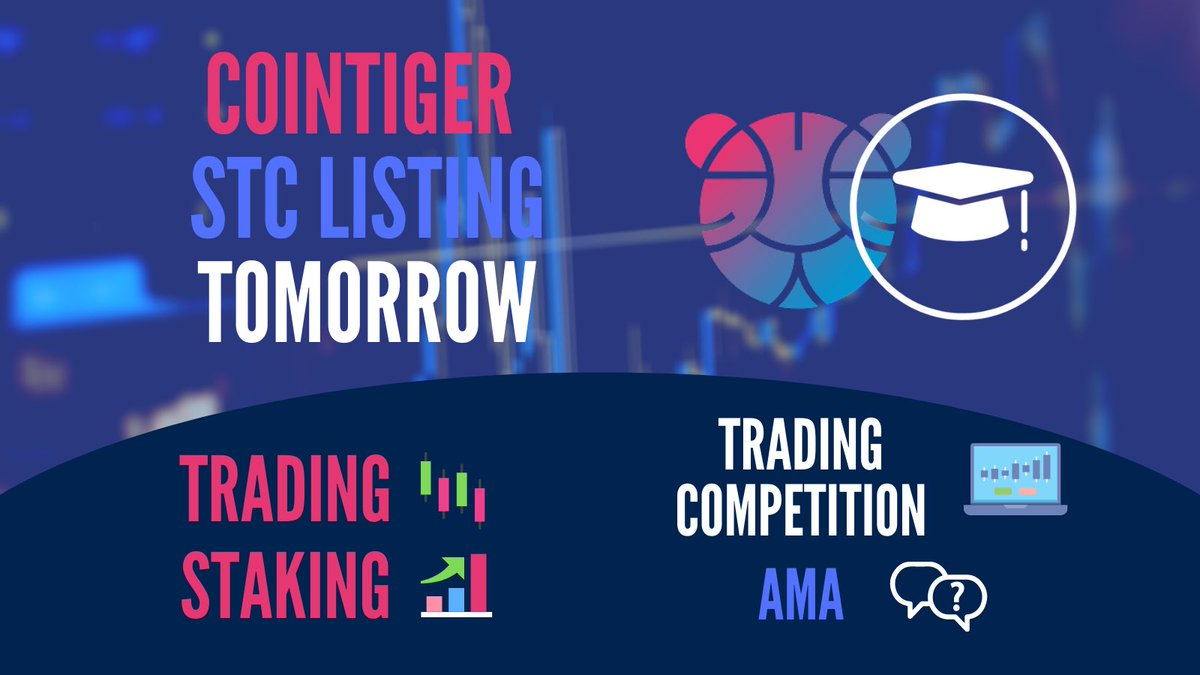 10:00 UTC Friday, December  - STC STAKING ⬆️ - STC/USDT TRADING COMPETITION📊 - STC AMA 📕  👉🏻 Join us on Friday's STC/USDT listing and learn how to stake STC: https://t.co/ASPwx6ZMhz #crypto #token #listing #exchange #token #hype #cointiger #ama #staking #trading https://t.co/KwOCTP7Htu