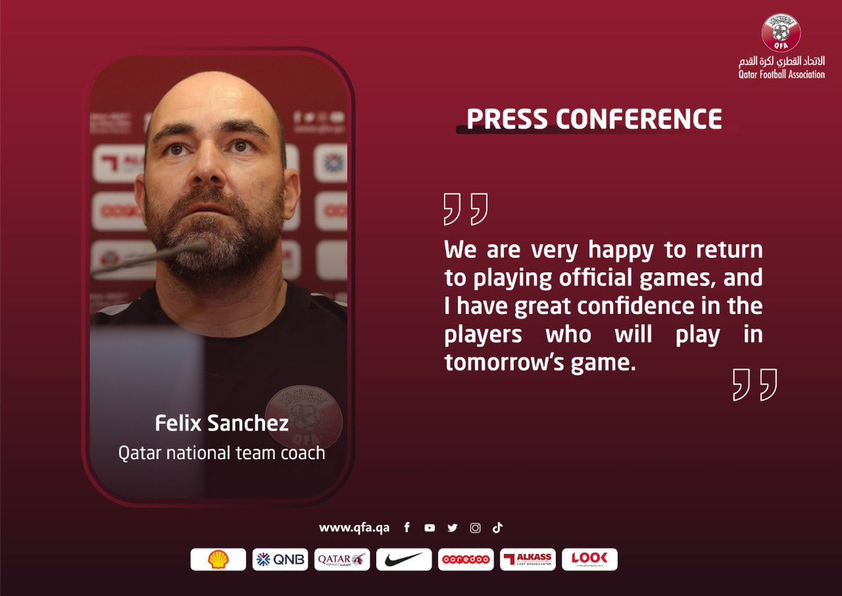 🎙  PRESS CONFERENCE   Felix Sanchez and Mohammed Waad shared their thoughts ahead of #Qatar's game against #Bangladesh 🇧🇩 in the joint qualifiers for the FIFA World Cup 2022 and AFC Asian Cup 2023  #AsianQualifiers