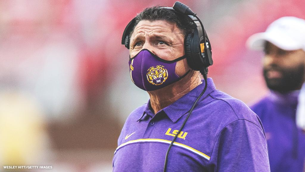 Alabama is a 29.5-point favorite against LSU this weekend.  The Tigers are the biggest underdog for a defending national champion in the past 40 seasons 😳