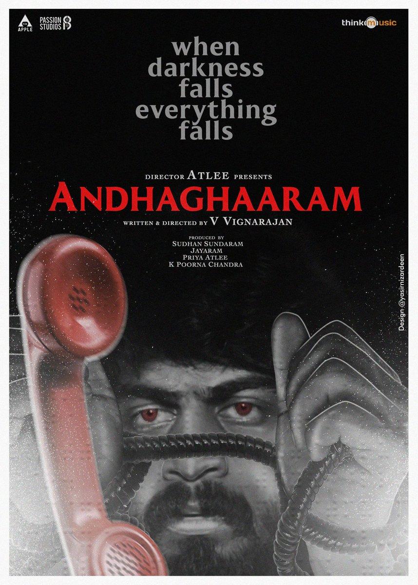 #Andhaghaaram movie super thrilling. Congratulations @iam_arjundas u do outstanding performance. @vinoth_kishan 👍 @Atlee_dir @priyaatlee 👌