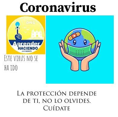 Recordemos que esté virus no se ha ido, por ende es importante la protección . . . . . #covid #pandemia #cuarentena #enfermedad #like4like https://t.co/imAVht5av5