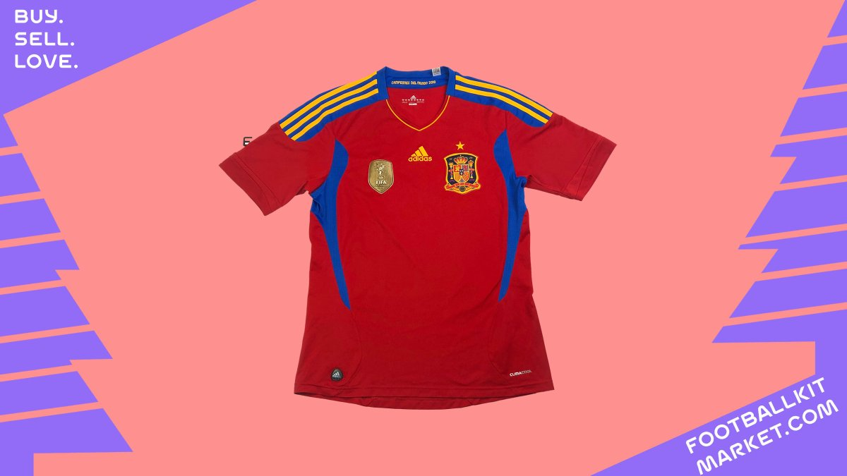 #Spain 2010-2012 - #WorldCup winners  Patches - #Adidas BNWT £29.99 - XL    #BuySellLove #ClassicShirts #VintageShirts #Real #Genuine #Classic #Vintage