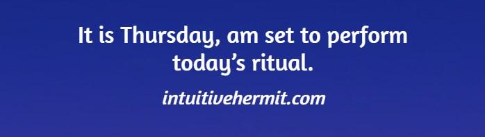 It is Thursday, am set to perform today's ritual?    #Ritual #ThursdayThoughts #Spirituality #Divination #Shamanism #ThursdayMotivation #Thursdayvibes