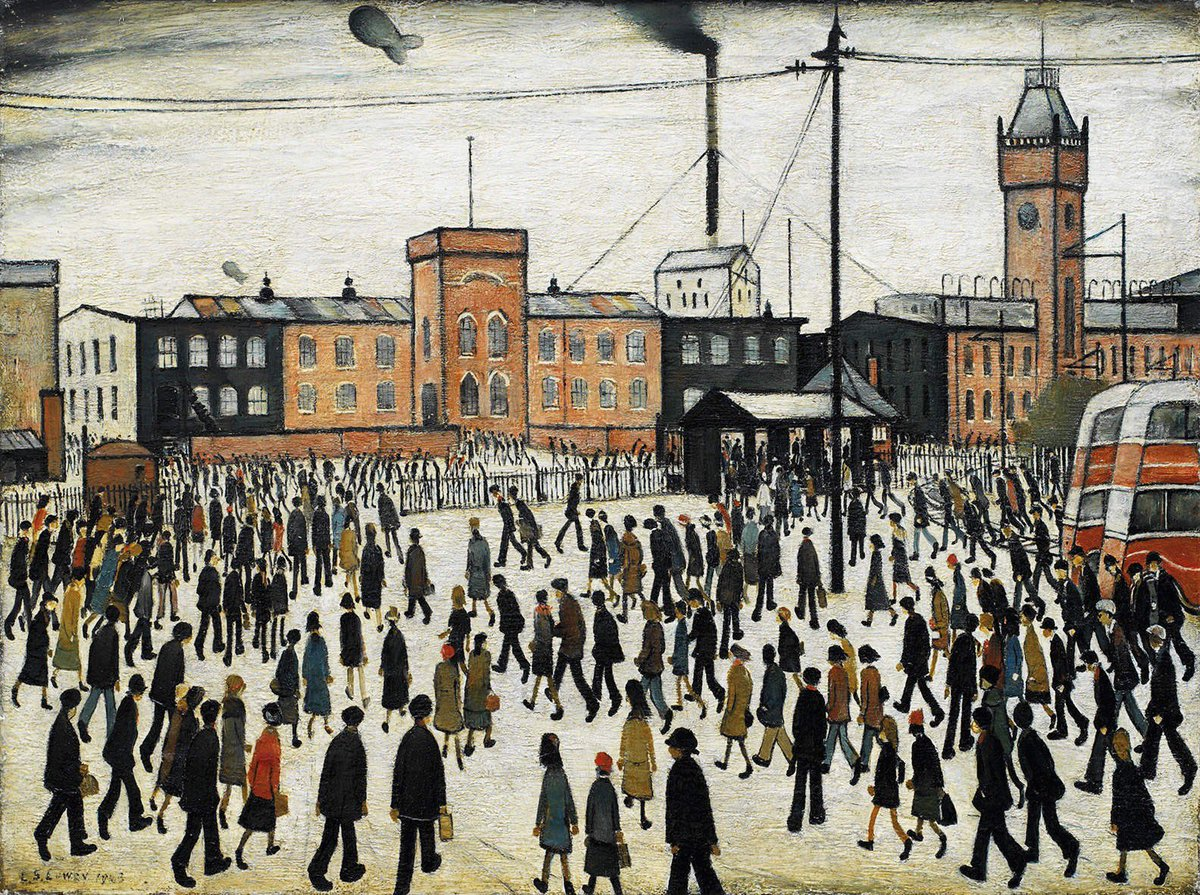 Going to Work (1943), L. S. Lowry