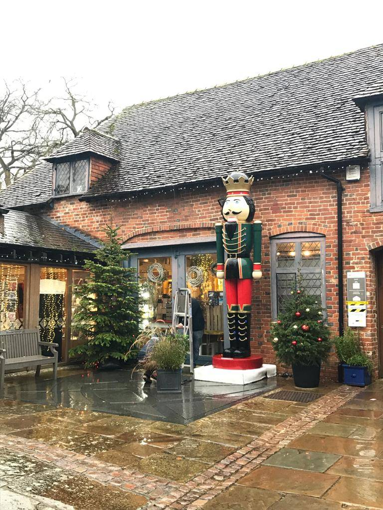 A giant nutcracker has appeared outside the Cathedral shop! He is part of the @WinchesterBID Christmas trail which you can pick up at Winchester's tourist information centre #thursdaymotivation #thursdaythoughts