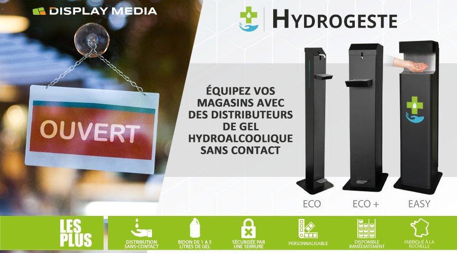 [#COVID19] A l'occasion de la réouverture des commerces soyez plus vigilants que jamais! Veillez à ce que les #gestesbarrières soient respectés à l'intérieur de vos magasins en mettez à disposition de vos clients des distributeurs de #gelhydroalcoolique. Disponibilité immédiate! https://t.co/bqWkseQ9gG
