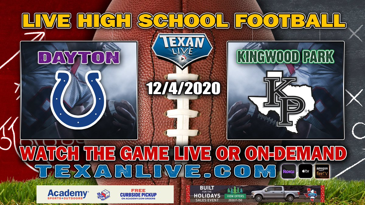 Tomorrow! @DaytonBroncosFB vs. @kingwoodpark at 7 PM from Turner Stadium. Catch the game LIVE provided by @Texan_Live @HoustonChronHS @TXHSFB #txhsfb https://t.co/twBTeAmNPU