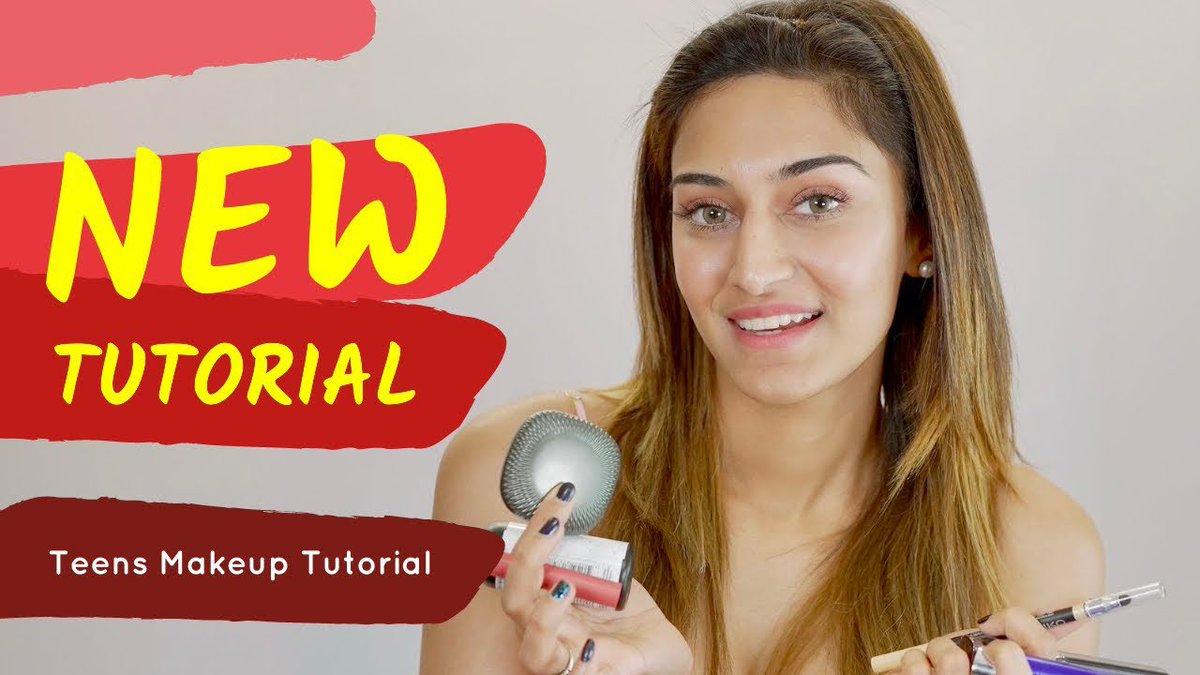 Teenager makeup Look ~ New Make up tutorial up on Erica's YT Channel  #EricaFernandes #KasautiiZindagiiKay #EJF #EJFians #YouTuber #YouTube #makeuptutorial   Link : https://t.co/kRwp0FI2it https://t.co/KD7bkpzNJ3