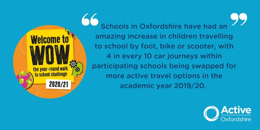 Active Oxfordshire has been working with @OxfordshireCC to deliver WOW – the year-round walk to school challenge from @livingstreets. Read about the success in #Oxfordshire here 👇 https://t.co/WgaBmXmTDB