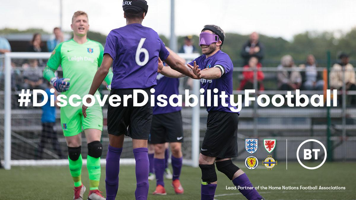 Disability football has changed the lives of many, including that of @England Partially Sighted Head Coach Steve Daley.    Discover his story, and those of other inspirational people across the 4 Home Nations:    #DiscoverDisabilityFootball